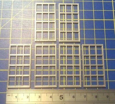 6 X FENETRE - WINDOWS - O - H:40 mm  L: 20 mm - HOF-1001 GR