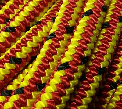MARLOW ROPES - Red/Yellow Gecko Rope, Sewn 35m