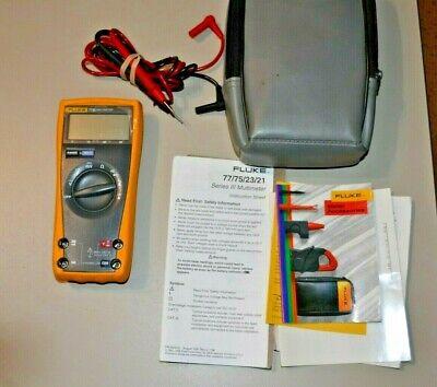 Fluke 77 Iii Multimeter W Test Leads Case Manual