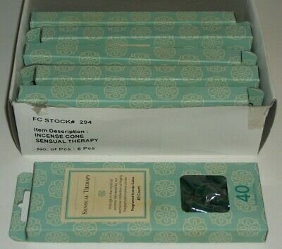 BULK Lot of 240 FLORA CLASSIQUE Made in India SENSUAL THERAPY Incense Cones NEW ()