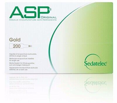 ASP - GOLD (200) Einmal -Dauernadeln - Akupunkturnadeln, inkl. Pflaster