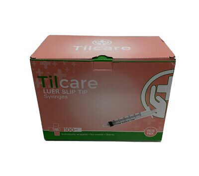 5ml Syringe Without Needle Luer Slip 100 Pack By Tilcare Sterile Plastic Medicin