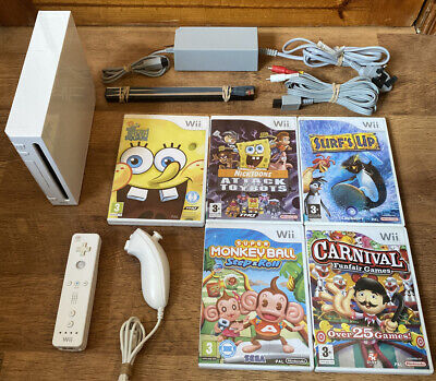Nintendo Wii Console And Games Bundle Kids
