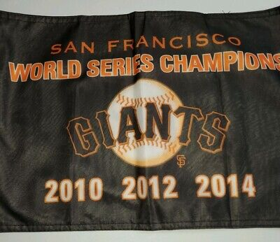 1 San Francisco Giants 3 World SERIES Champions CAR Flag 2010 2012 2014 New MLB