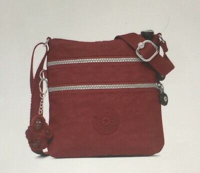 Genuine Kipling Alvar XS Shoulder/Crossbody Mini Bag In Brick Red