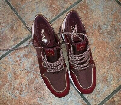 michael kors wedge sneakers 7 Burgundy