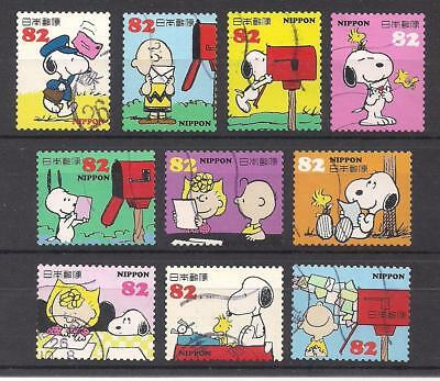10 DIFFERENT SNOOPY / CHARLIE BROWN / PEANUTS POSTAGE STAMPS - SET - Charlie Brown Snoopy
