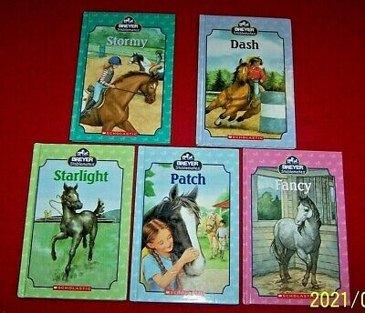 BREYER Stablemates Lot 5 Hardcover Books Stormy Fancy Dash Starlight Patch