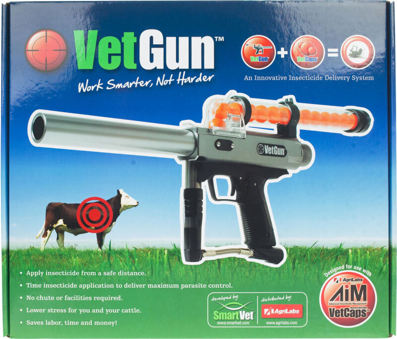 VetGun for Cattle CO2 Propelled Parasiticide VetCap GelCap Delivery System