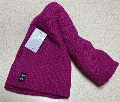 Women's Under Armour Knit Infinity Scarf Performance Fushia Purple 1262262