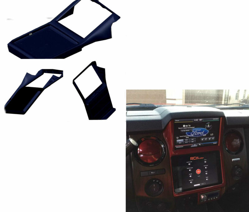 Retro Customz 2013-2016 Ford F250 / 350 / 450 IPad In-Dash Kit | Gloss Black