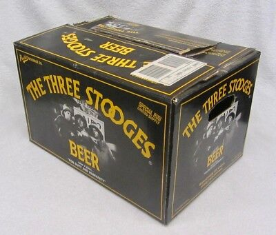 Vintage 3 THREE STOOGES BEER Case BOX Originally 24 Bottles Pack PANTHER Brewing