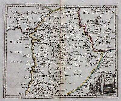 Original antique map SYRIA 'SYRIAE SIVE SORIAE DESCRIPTIO', P. Cluver c.1697