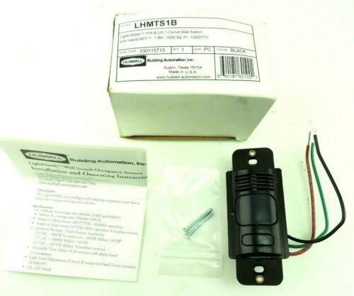 Hubbell LHMTS1-B LightHawk Dual Technology Wall Switch Sensor Black PIR 120/277V