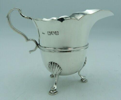 Practical George II / Georgian style Solid Silver Cream Milk Jug Tea or Coffee