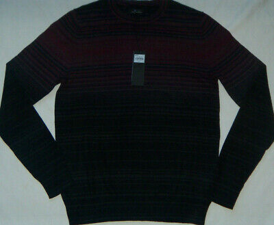 NEW Mens Marc Anthony Striped Luxury Blend Cotton/Merino Wool/Cashmere Sweater  Mens Luxury Wool Cashmere