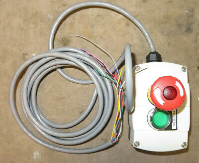 Electric Illuminating E-stop Power Switch Control Box - Used