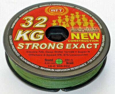 WFT KG STRONG Schnur 600m 0,08mm 10kg 0,15€//1m geflochtene Schnur fürs Meer