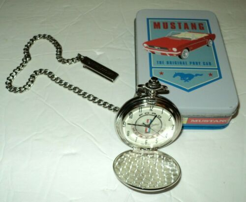 Ford Mustang Pocket Watch/PocketWatch Special 40th Anniversary w/Tin & New Bat.
