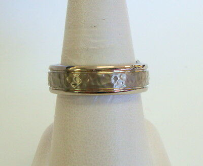 7 mm Titanium Benchmark Wedding Band Ring Silver Tone Mens Size 10 Benchmark Titanium Wedding Band