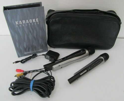 Magic Sing MT14K Wired Microphone Karaoke System + Wireless Duet Mic & POP 14