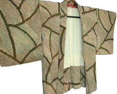 SHIBORI SILK HAORI VINTAGE JAPANESE KIMONO #81
