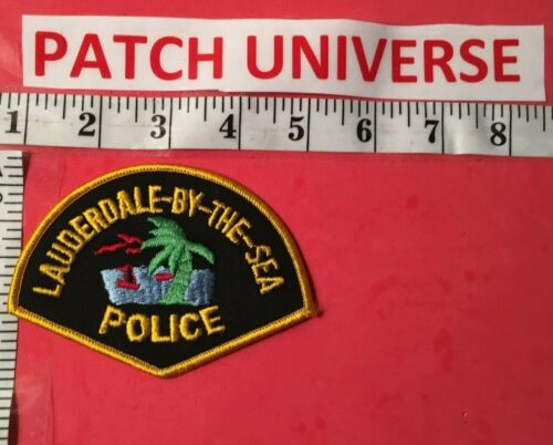 VINTAGE LAUDERDALE -BY-THE -SEA  FLA POLICE  SHOULDER  PATCH  R030