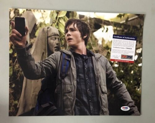 U64458 Logan Lerman Percy Jackson Signed 11x14 Photo AUTO Autograph PSA/DNA COA
