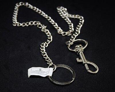 Karabiner mit Kette,Schlüsselkette,Kettenanhänger,Schlüsselring,54cm,Hosenkette
