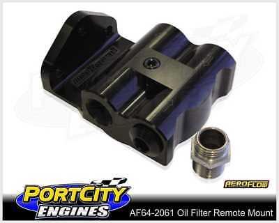 """Aeroflow Billet Remote Oil Filter Head Side Entry 3/4"""" -16 Thread AF64-2061"""