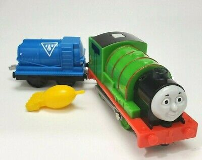 Thomas & Friends Trackmaster Motorized Railway Train REAL STEAM PERCY Cargo