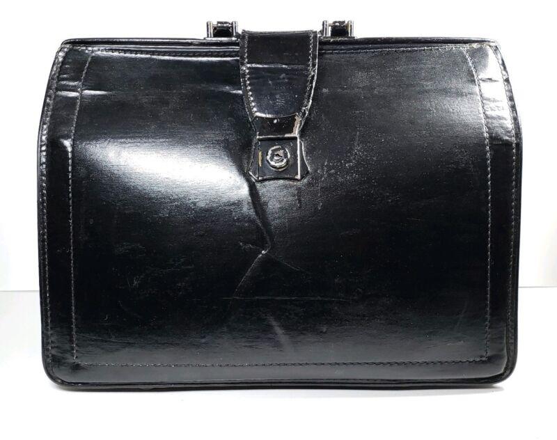 "Vintage Doctors Leather Bag Retro Chic 17"" x 12"" x 7"""