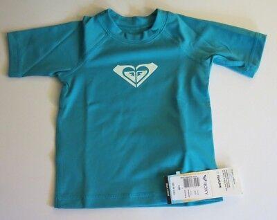 Roxy Infant Girl's 12M Whole Hearted Rash Guard UV Shirt Swimsuit Top NWT
