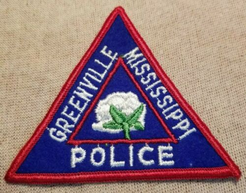 MS Greenville Mississippi Police Patch (3.25In/Felt)