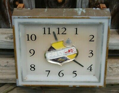 Vintage FALSTAFF BEER Lighted Advertising Clock - Restore or Parts