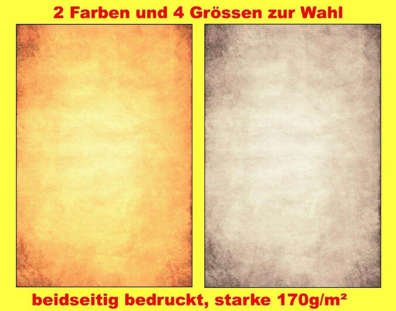 Urkunden-Papier Dokumentenpapier A4 A5 A6 Vintage Antik-Optik marmoriert 170g/m²