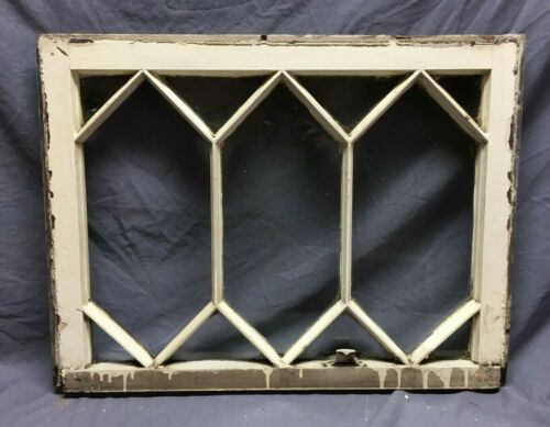 Antique Diamond Cottage Window Sash Shabby Vintage Chic 21X28 243-19C