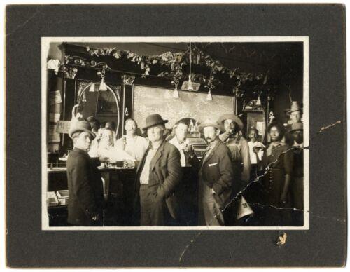 Pre-Prohibition Jim Crow Era Saloon Interior w/ Black African American Patrons