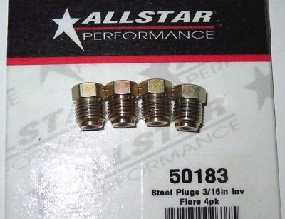 Brake Adapter Inverted Flare Male Fitting 316 Plug Hex Head 4 Pack 38 24 In