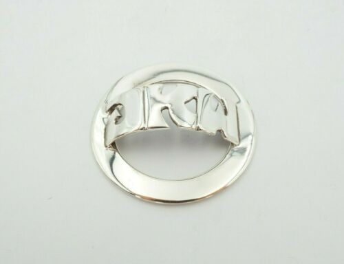 Vintage Leonore Doskow Sterling Silver Monogrammed Initial JKW Scarf Ring