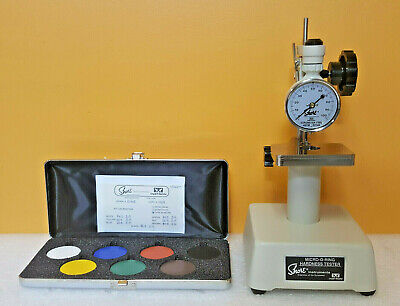 Shore Instron 714 Type M Micro-o-ring Hrdness Tester Specimen Disck Set