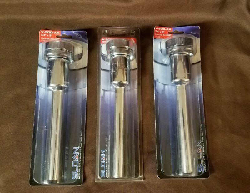 """3 Genuine Sloan V-500-AA 3/4"""" x 9"""" Vacuum Breakers"""
