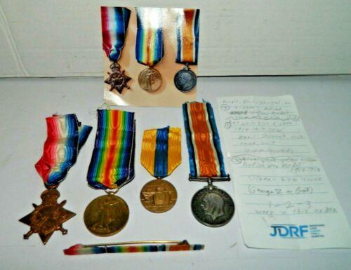 British WWI 4 Medal Group, CPL J. Richards, ABC, T3-023179, De la Somme