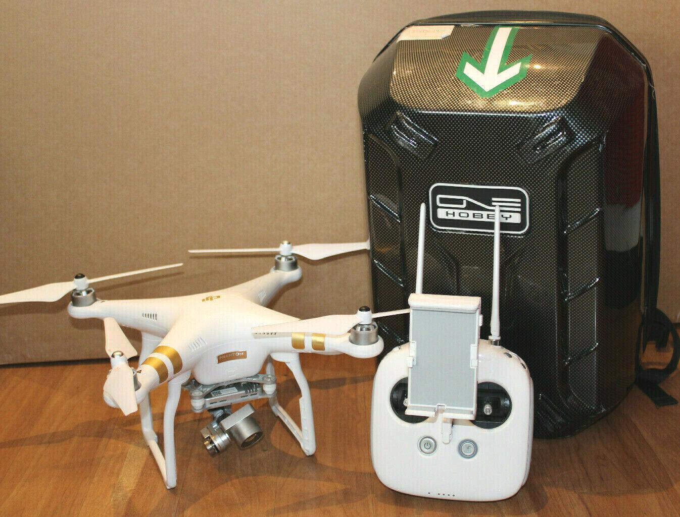 DJI Phantom 3 Professional Quadrokopter - Drohne mit Rucksack & 2 Akku - Weiß