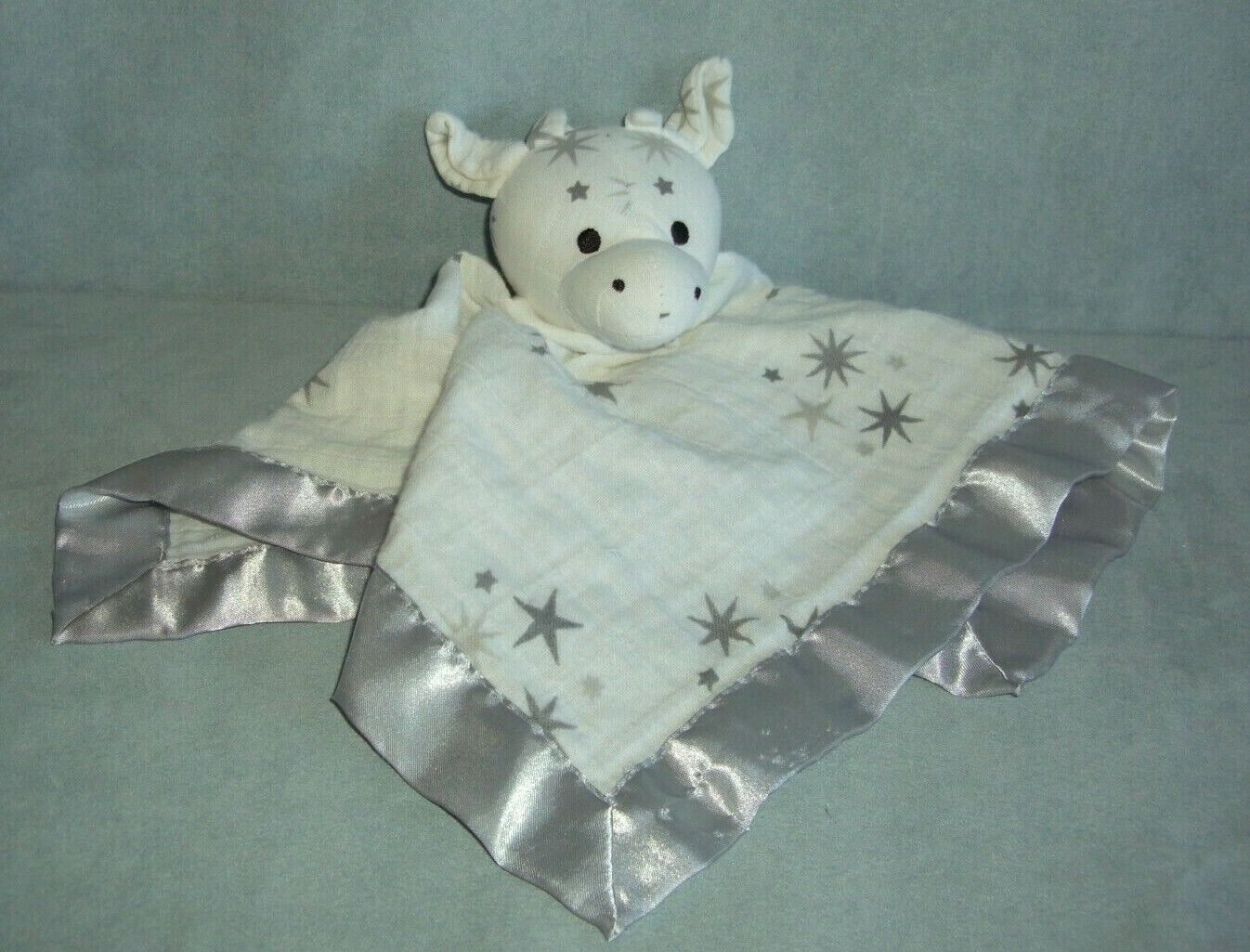 ADEN ANAIS Musy Mate GIRAFFE LOVEY Security Blanket White Gray Stars - $44.98