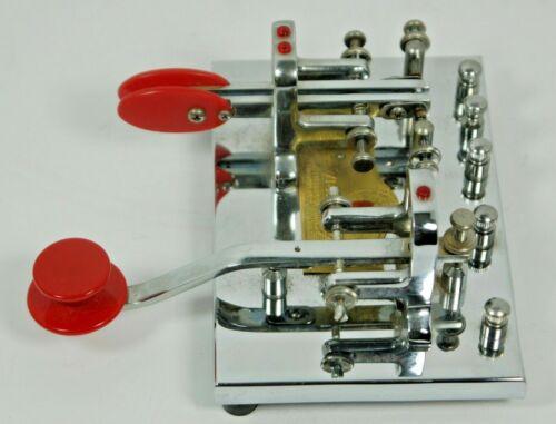 Vibroplex Deluxe Double Iambic Keyer + Straight Key Ham Radio CW Code (nice)