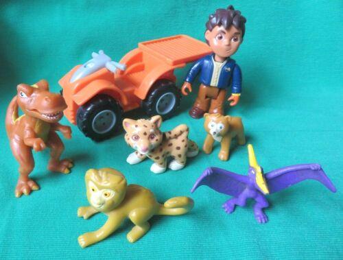 GO DIEGO GO RESCUE ANIMALS DINOSAUR MONKEY BEAR  JAGUAR Figures + ATV  DORA LOT