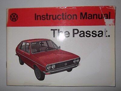 Volkswagen Passat Owners Manual/Handbook 1973