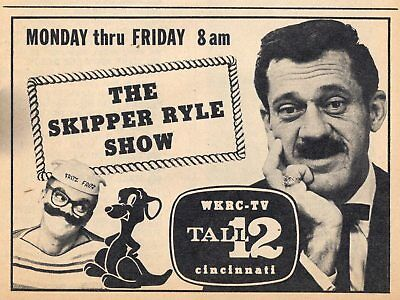 1964 TV AD~SKIPPER GLENN RYLE SHOW CINCINNATI,OHIO WKRC CHILDREN'S SHOW