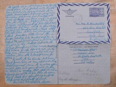 Mayfairstamps Canada 1953 Ste Agathe Des Monds to Australia Aerogramme wwp10239